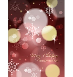 Christmas greeting card or postcard with blurred vector