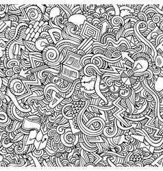 Doodles hand drawn idea seamless pattern vector
