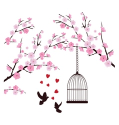 dove love cage vector image vector image
