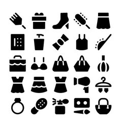 Fashion icons 6 vector