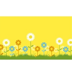Flower spring background collection stock vector