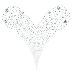 galaxy fountain stream vector image vector image