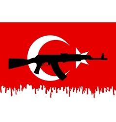 Graphic design and symbol of coup attempt in vector