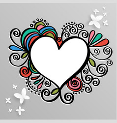 heart frame for wedding and valentine vector image vector image