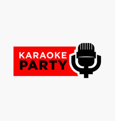 Karaoke party and mic sign vector