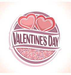 logo for happy valentines day vector image
