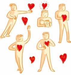 man in love vector image vector image