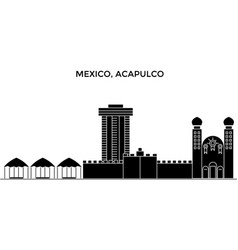 mexico acapulco architecture urban skyline with vector image vector image