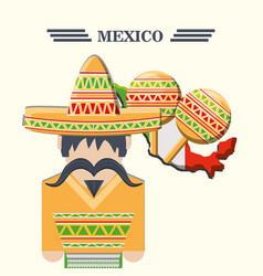 Mexico concept design vector