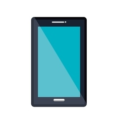Mobile smartphone isolated flat icon vector image