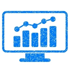 Monitoring grainy texture icon vector