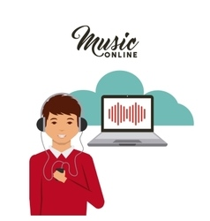 Music online design vector