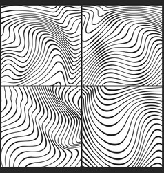 ocean wavy line textures outline ripple vector image vector image