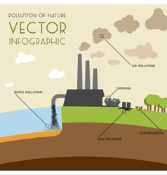 Pollution of nature infographic vector image
