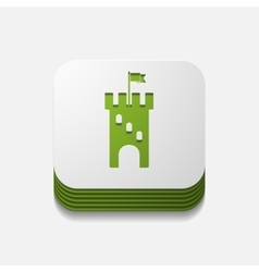 square button fortress vector image