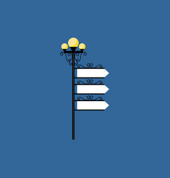 Street light with read sign vector