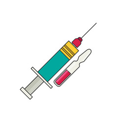 Syringe flat health care vector