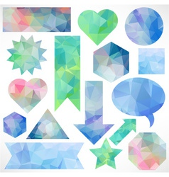 Web shapes with abstract triangles vector image vector image