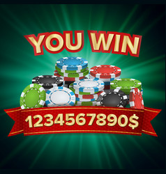 you win winner background jackpot vector image vector image