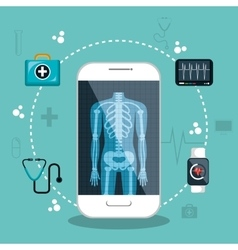 Health app medical digital healthcare vector