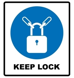 Keep locked sign vector
