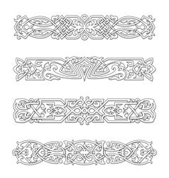 Retro borders and ornaments vector image