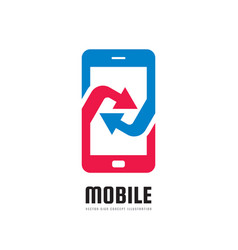 Mobile phone application logo template vector