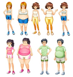 Fat and skinny people vector
