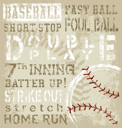 baseball terms vector image