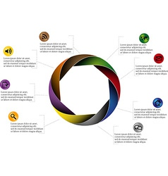 Rounded infographic vector image
