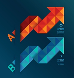 Geometric arrows red and blue colour vector image