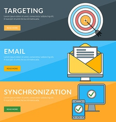 Flat design concept for targeting email vector
