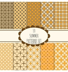 10 summer seamless patterns set vector