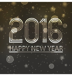 Happy new year 2016 on dark shiny stars background vector