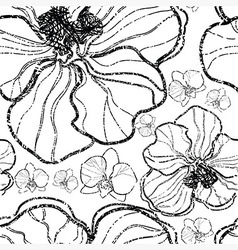 flower seamless 07 grunge vector image