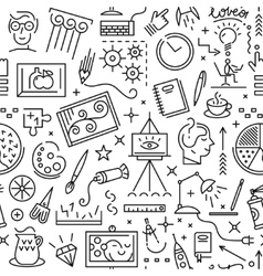 Art science - seamless background vector image