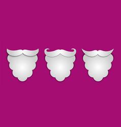 Abstract snow paper santas beard with shadows 3 vector