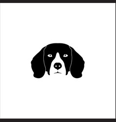 beagle dog head vector image