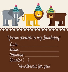 birthday invitation vector image