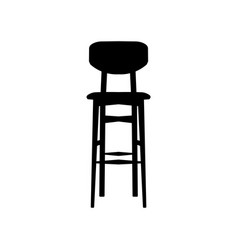 black bar stool bar chair vector image vector image