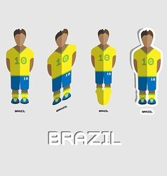 Brazil soccer team sportswear template vector