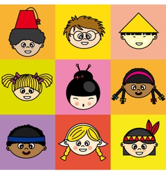 Children of different ethnicities vector image vector image