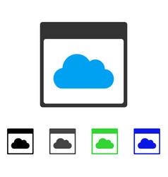 Cloud calendar page flat icon vector