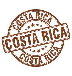 Costa rica brown grunge round vintage rubber stamp vector