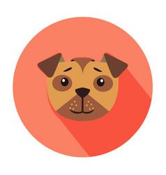 cute dog muzzle cartoon flat icon vector image vector image