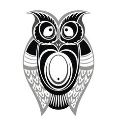 Decorative owl vector image
