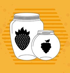 Fruit mason jar vector
