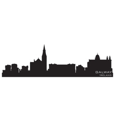Galway Ireland skyline Detailed silhouette vector image vector image