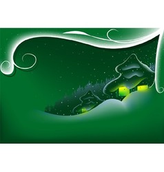Green Abstract Xmas vector image vector image