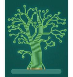 Green Circuit Board Tree vector image